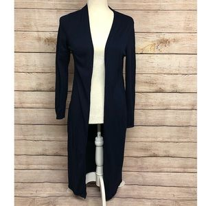 White House | Black Market Navy Blue Duster